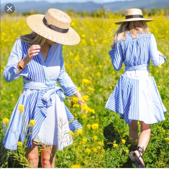 a6b1d9d1a8f Anthropologie Dresses   Skirts - Anthropologie • Maeve Newport Striped  Shirt Dress